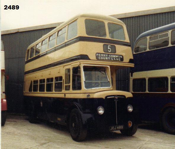 2489, JOJ 489, Crossley (1), (Ex-Birmingham)