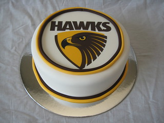 AFL Cake Hawthorn Hawks | by Sweetcheeks Cookies and Cakes - Danielle