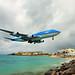 KLM Boeing 747-400,St Maarten arrival,25Oct10.1 by Pervez 183A
