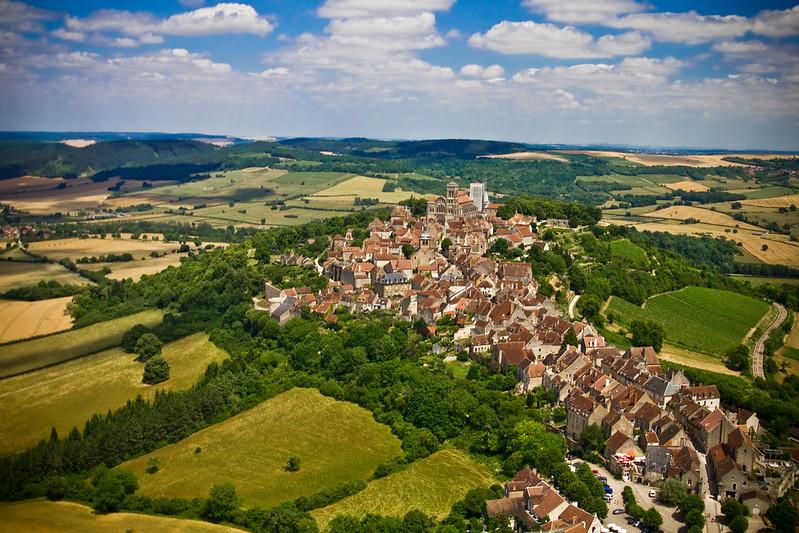 La Bourgogne vue d'en haut