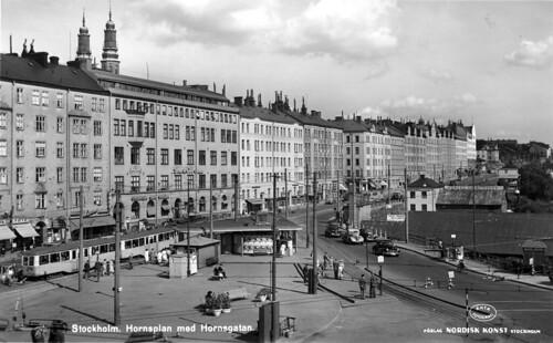 Stockholm Hornsplan Med Hornsgatan Nk 6002 456