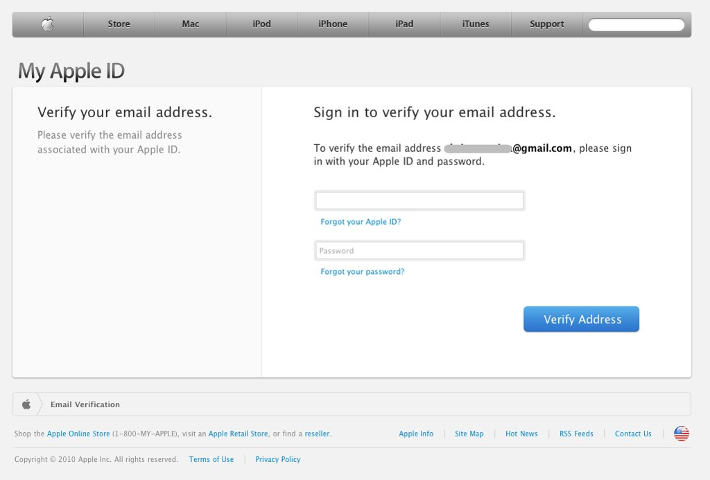 Apple - My Apple ID - Email Verification | Chris Messina | Flickr