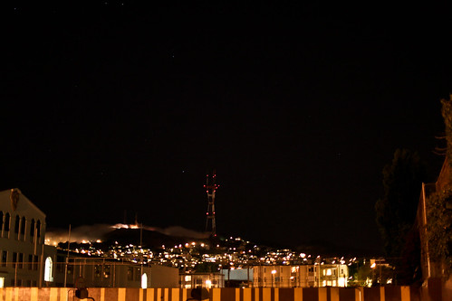 Sutro Tower by night   by william couch