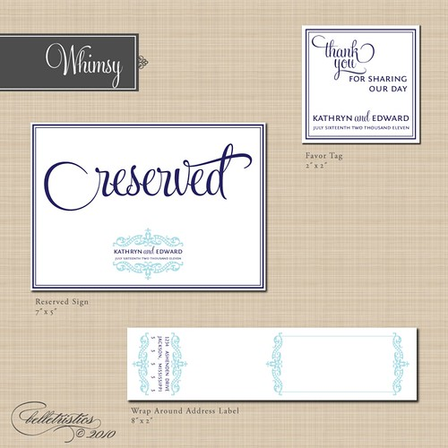 Whimsy Printable Wedding Stationery Designs | by belletristics