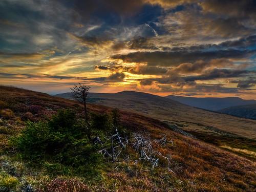 sunset czechrepublic hdr krkonose karkonosze cechy hory krkonoše cesko čechy česko studničníhora