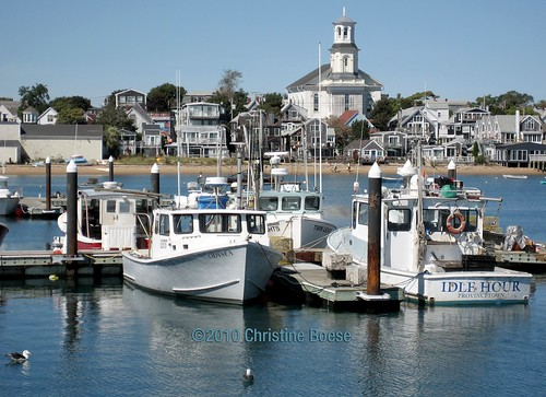 Provincetown Harbor with view of Public Library | by Chris Boese