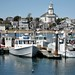 Provincetown Harbor with view of Public Library