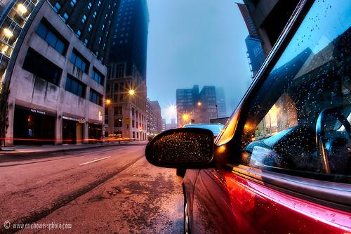 morning car fog sunrise downtown kansascity missouri fordfocus baltimoreavenue ericbowers