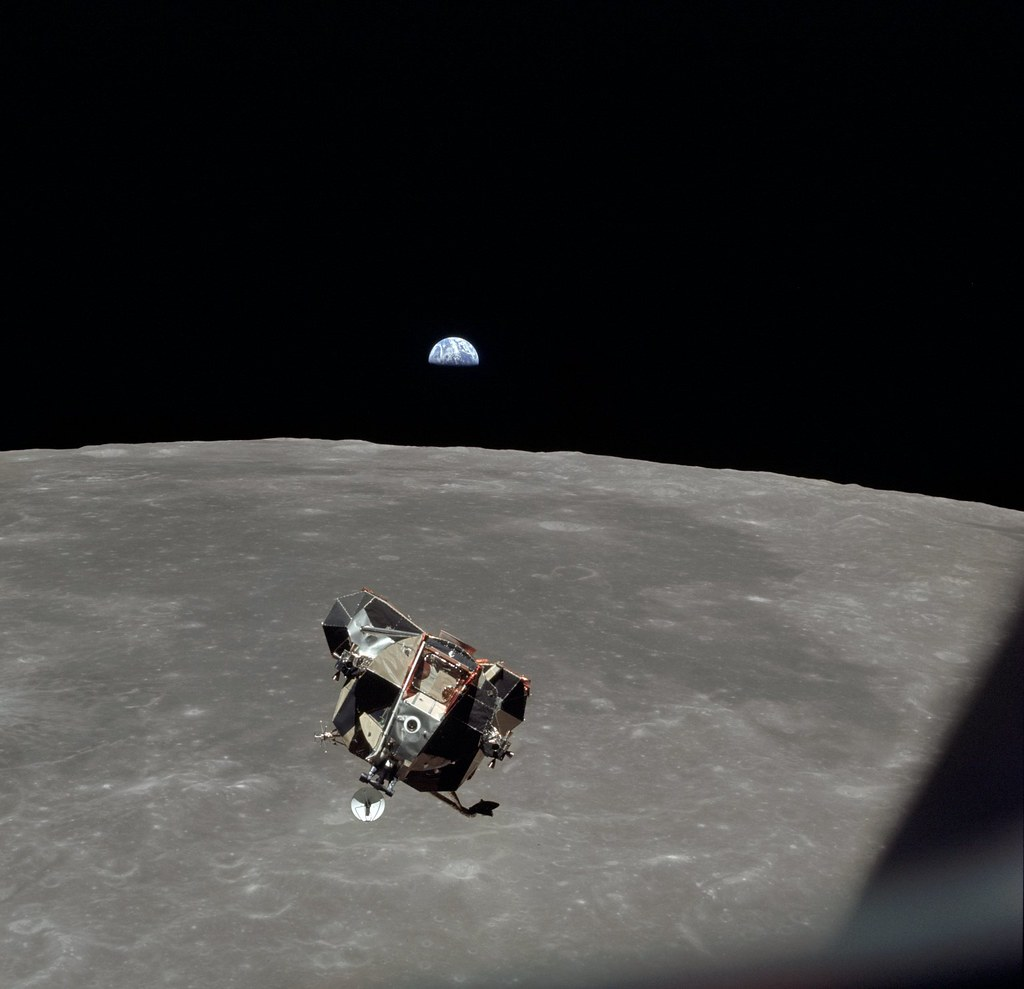 Apollo 11 Mission Image - View of Moon limb and Lunar Modu… | Flickr