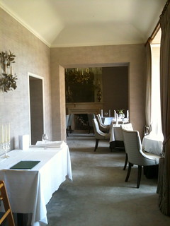 Glimpse of a dining room in Bibury Court Hotel | by Tip Tours