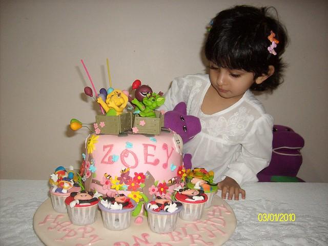 Barney and friends theme birthday cake