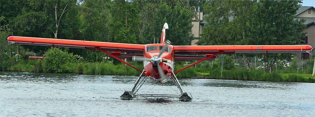 Ready for takeoff at Lake Hood