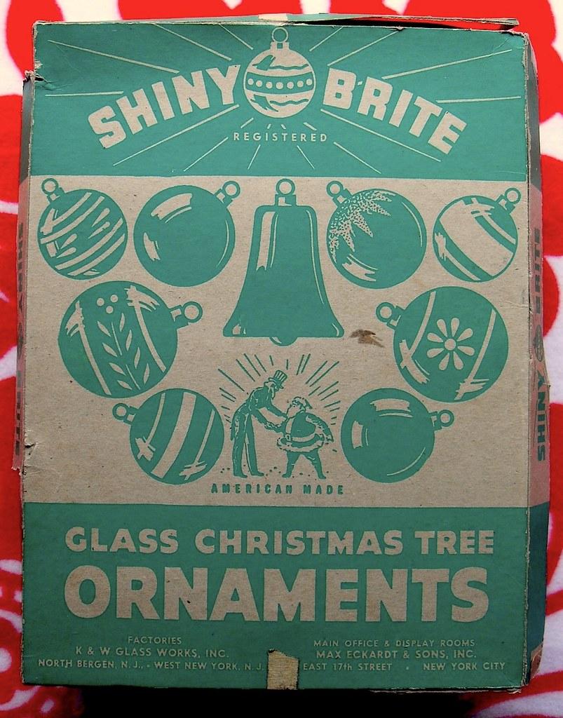 Vintage Christmas Decorations 1950s.1940s 1950s Vintage Christmas Ornaments Shiny Brite Box