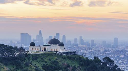 la california griffithobservatory griffithpark cities cityscapes skylines sunrise lights dawn losangeles layers