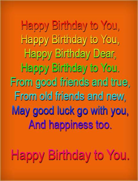 Happy Birthday To You Song With Name Lyrics Download | Flickr