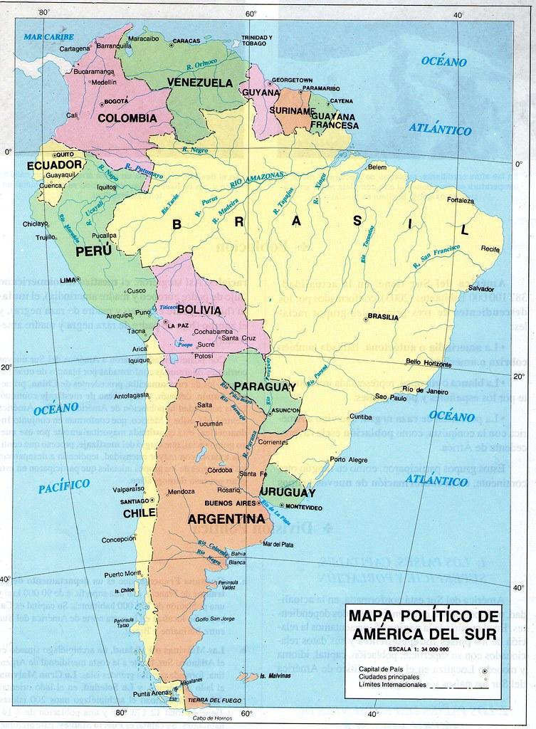Mapa Politico America Sur.Mapa Politico De America Del Sur Econciencia Peru1 Flickr