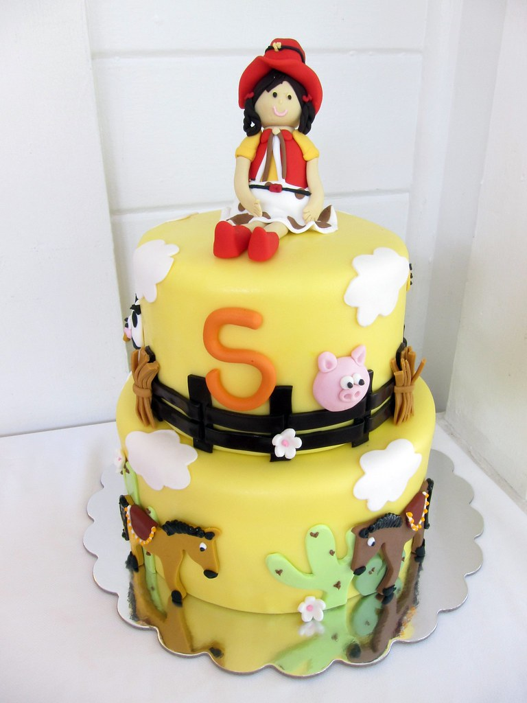 Astonishing Cowgirl Birthday Cake Polkadots Olga Flickr Funny Birthday Cards Online Alyptdamsfinfo