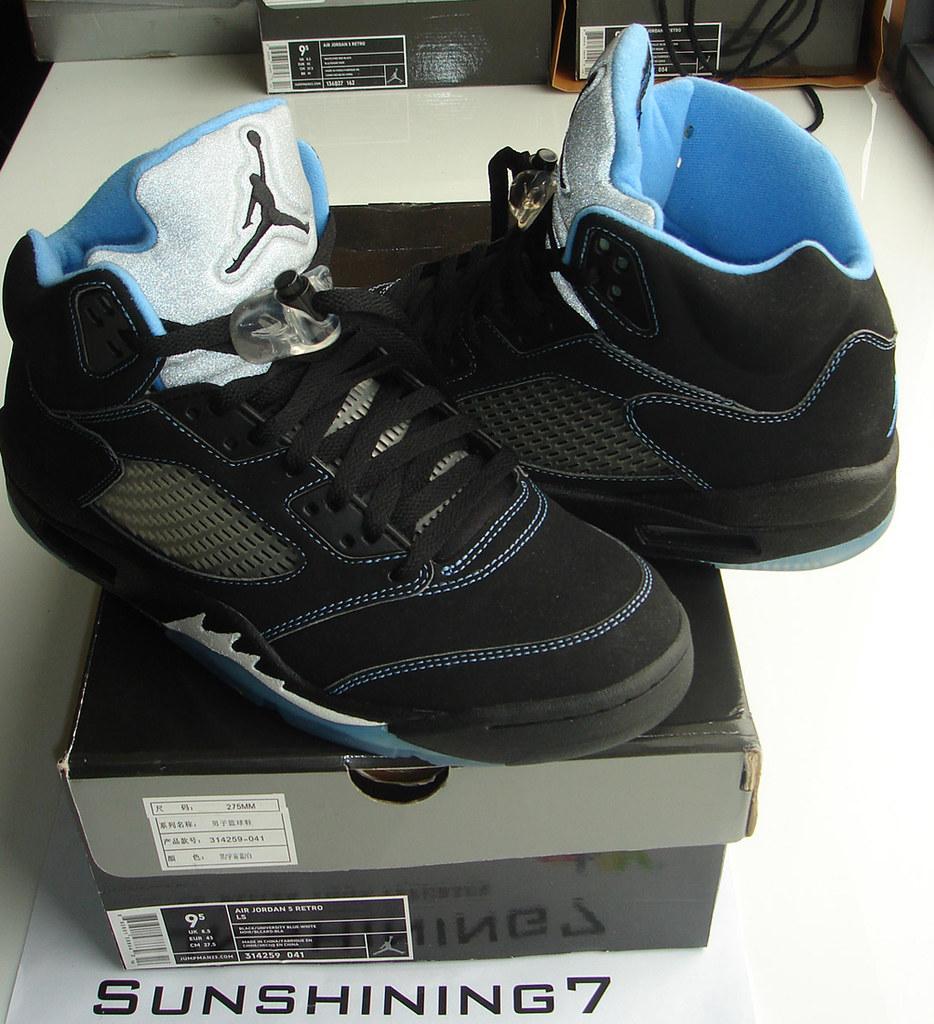 low priced bd0e7 ea79b ... Sunshining7 - Nike Air Jordan V (5) - Retro 2006 - Black-Varsity