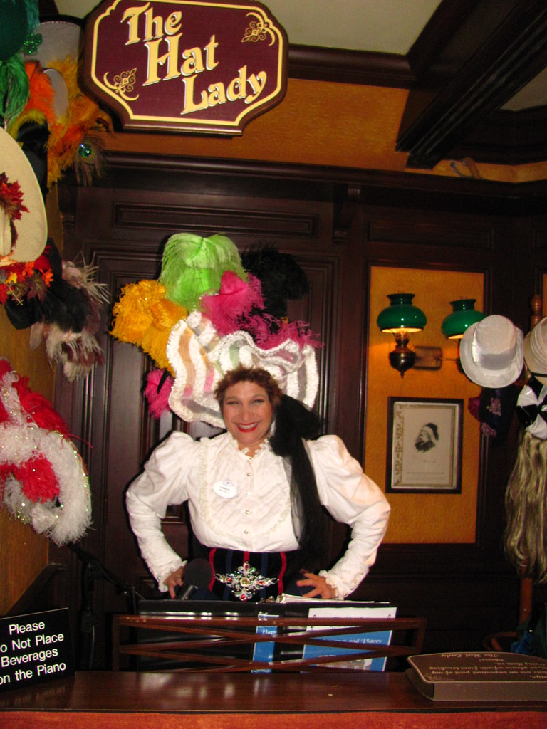 Miss Carol, The Hat Lady, performs at the Rose & Crown Pub… | Flickr
