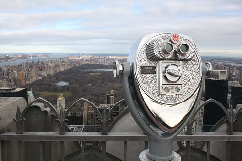 Binoculars at The Top of the Rock