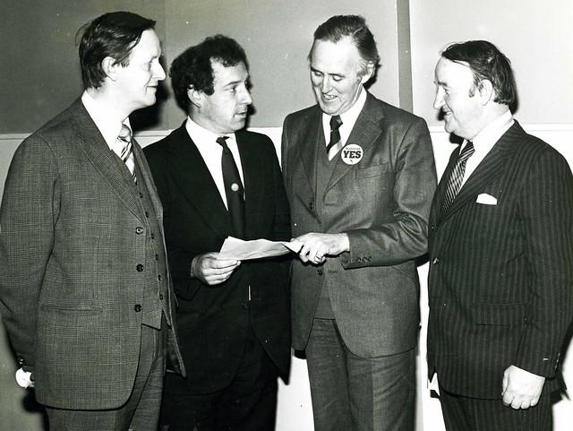 Billy Wolfe campaigning at 1979 devolution referendum
