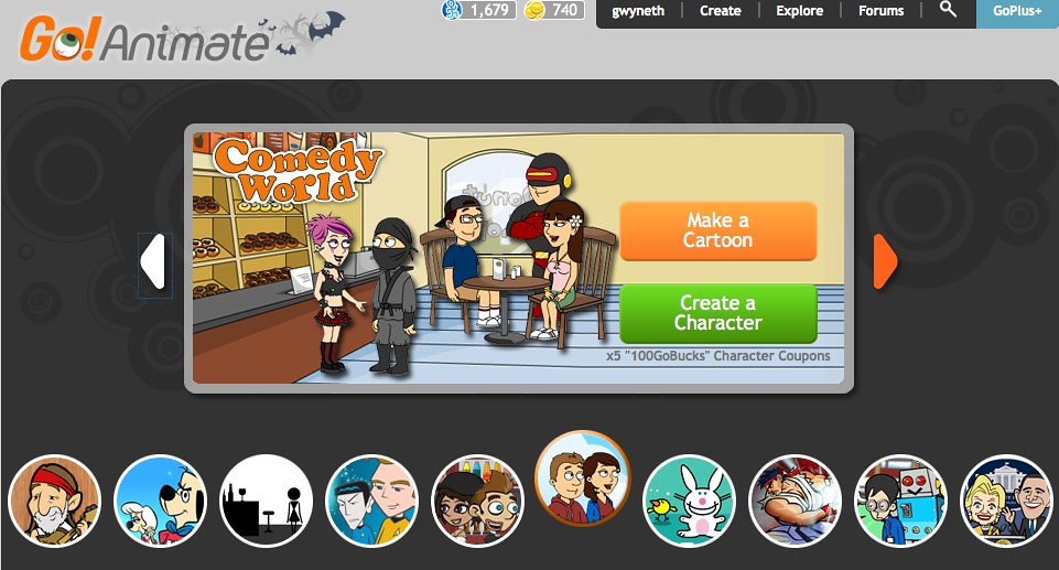 GoAnimate Character Creator - Comedy World | Arrow to the ri… | Flickr