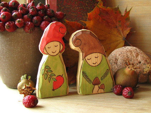Sweet Brier GNOME and Mushroom GNOME - waldorf inspired toy | by Rjabinnik and Rounien
