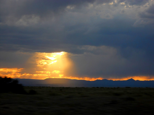 NM Sunset from the car