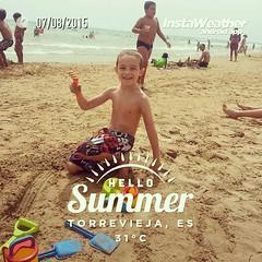 Día de #playa con el niño más guapo de #Torrevieja y alrededores! #orgullodepadre #semecaelababa #igers #instagramers #Alicante #Alacant #Costablanca #verano2015 #MarMediterraneo