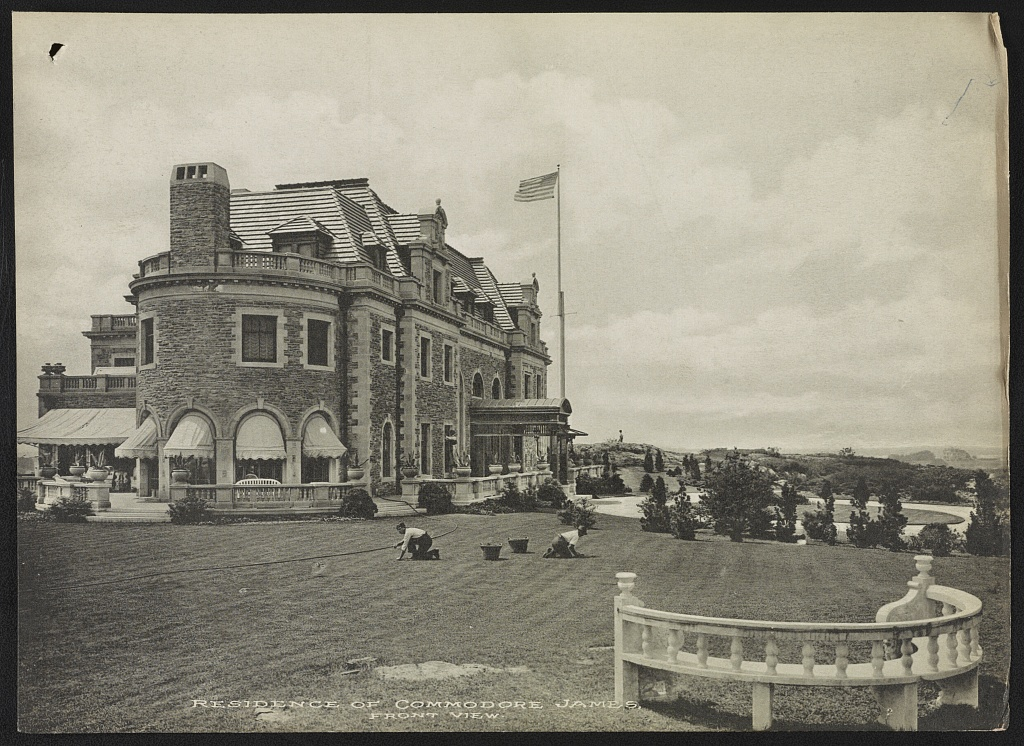 Residence of Commodore James, front view (LOC)