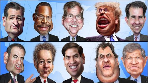 FOX News Debate Cast: The Top Ten | by DonkeyHotey