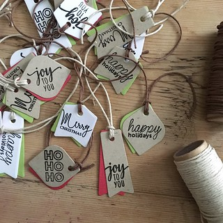 Mini messages Christmas gift tags | by Kimberly Toney