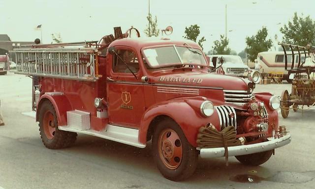 1940,s Batavta Fire dept. Chevrolet Engin