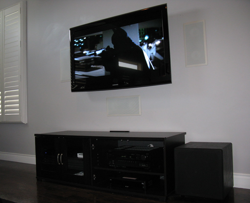 Plasma Installation with In Wall Speakers | Toronto Home Theater