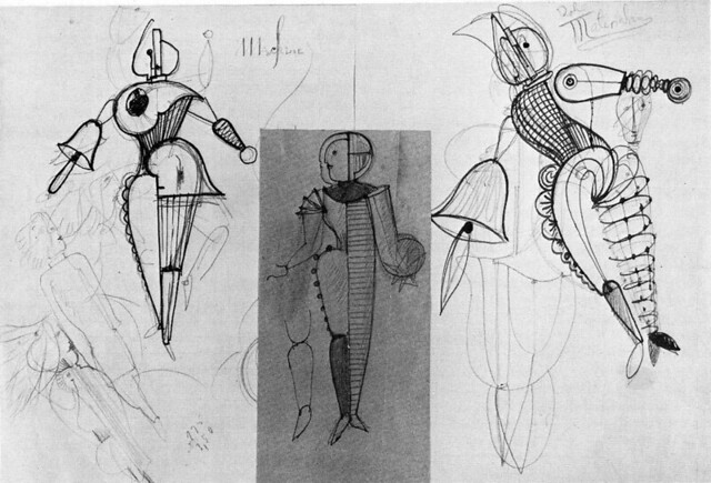 Schlemmer, O. Boceto del Ballet triádico