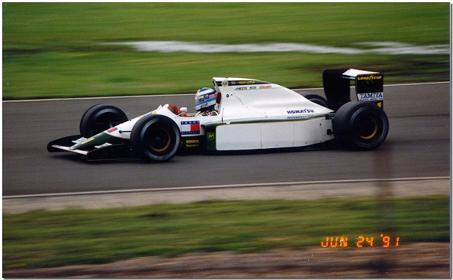Mika Häkkinen Lotus Ford102B F1. 1991 British GP Test Silverstone