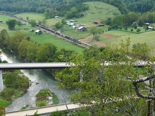 from above cliff view clinch