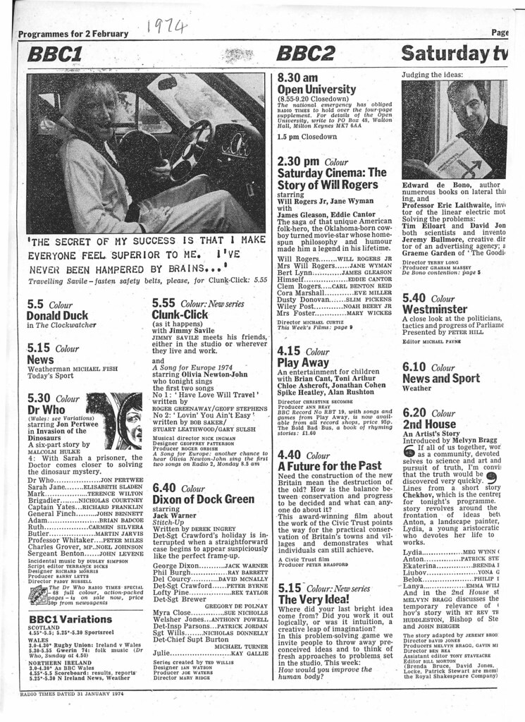 Doctor Who In The Radio Times 1974-02-02   combomphotos   Flickr