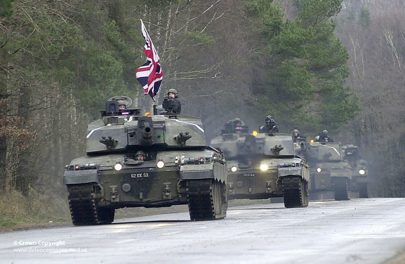 2c2cb4faf4e3 ... Challenger 2 Tanks with the 2nd Royal Tank Regiment in 2003