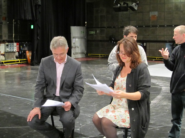 Philip and Moira at script readthrough rehearsal