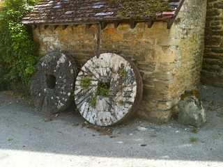 Bibury Mill ancient millstones | by Tip Tours