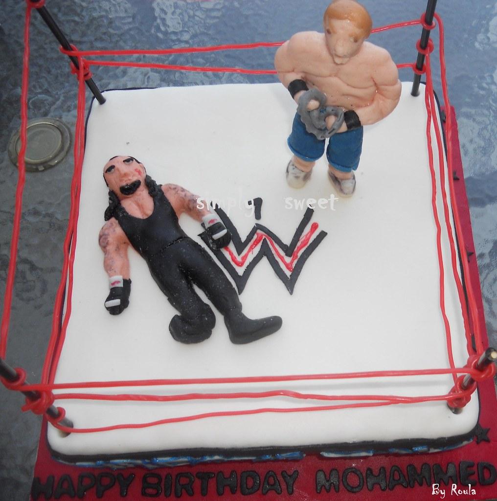 Peachy Wrestling Cake John Cena Vs Undertaker Simply Sweet Jo Flickr Personalised Birthday Cards Veneteletsinfo