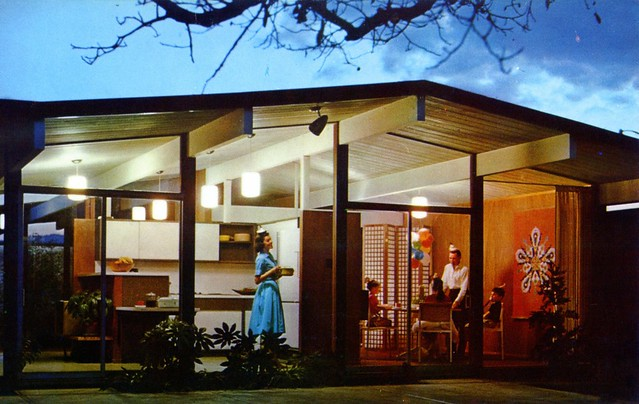 Eichler Homes birthday party postcard Sunnyvale CA