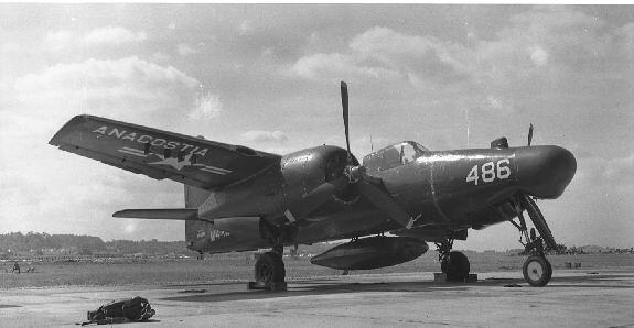 Grumman F7F-3N, 80486, NAS Anacostia, Dallas Love Fld