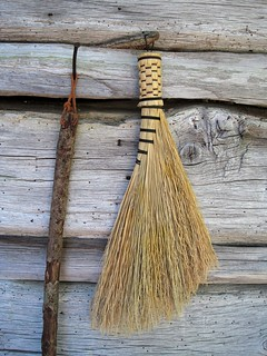 handmade broom and walking stick | by galaxed