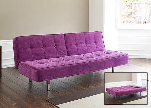 Pesaro Sofa Bed in Purple