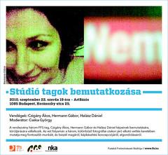2010. szeptember 19. 20:07 - Czigány Ákos, Hermann Gábor és Halász Dániel bemutatkozó kiállítása