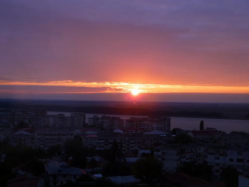 city sunset danube 700am galati