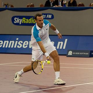 Alex Corretja hitting a low volley
