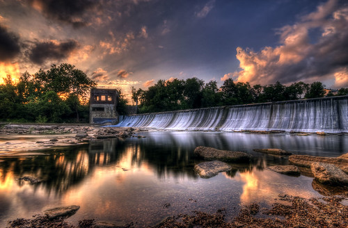 sunset walter water waterfall dam tennessee hill middle hdr murfreesboro thechallengefactory